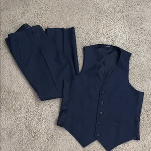 Navy blue pants with matching vest